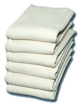 BumWear  unbleached cotton prefolds